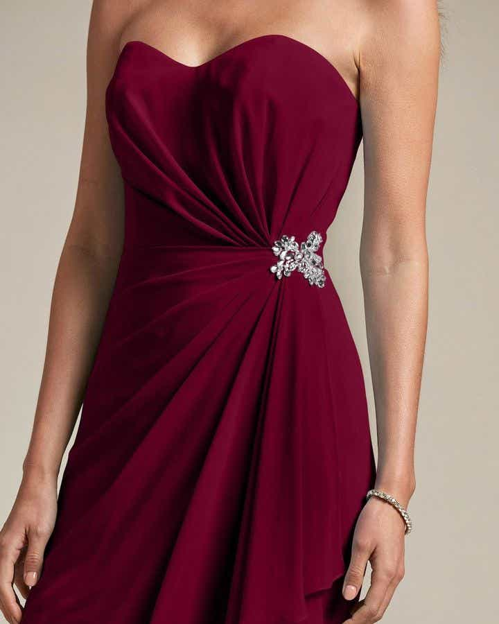 Strapless Sweetheart Maxi Dress - Detail