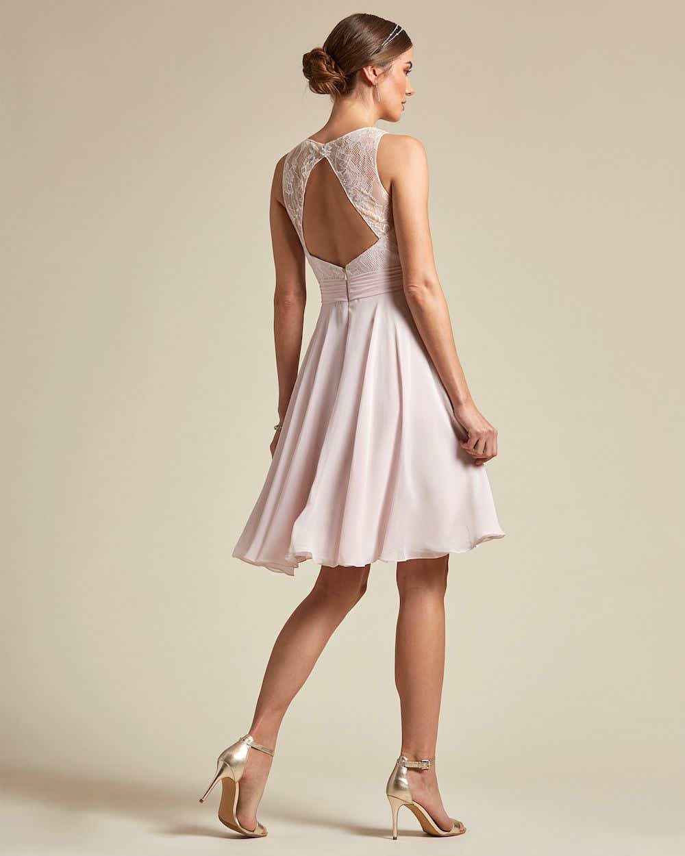 Sweetheart Shaped Lace Maxi Dress - Back