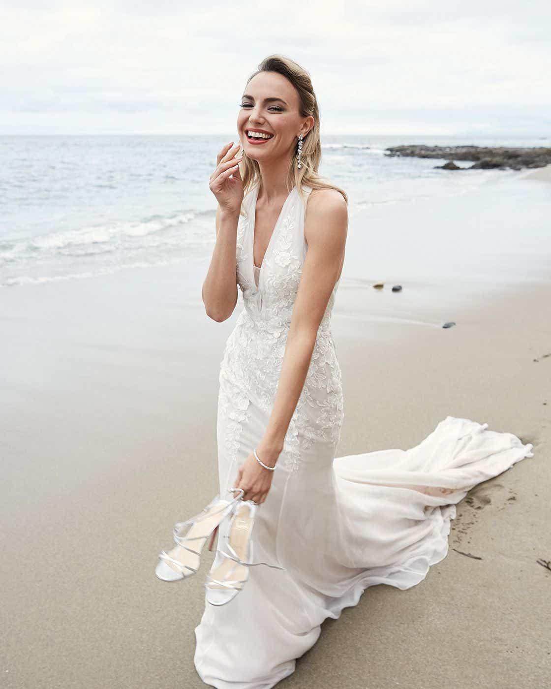 Classic Style Off White Mermaid Wedding Dress - Editorial